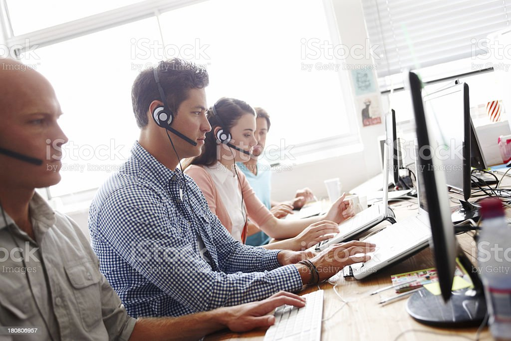 Servicing their clients stock photo