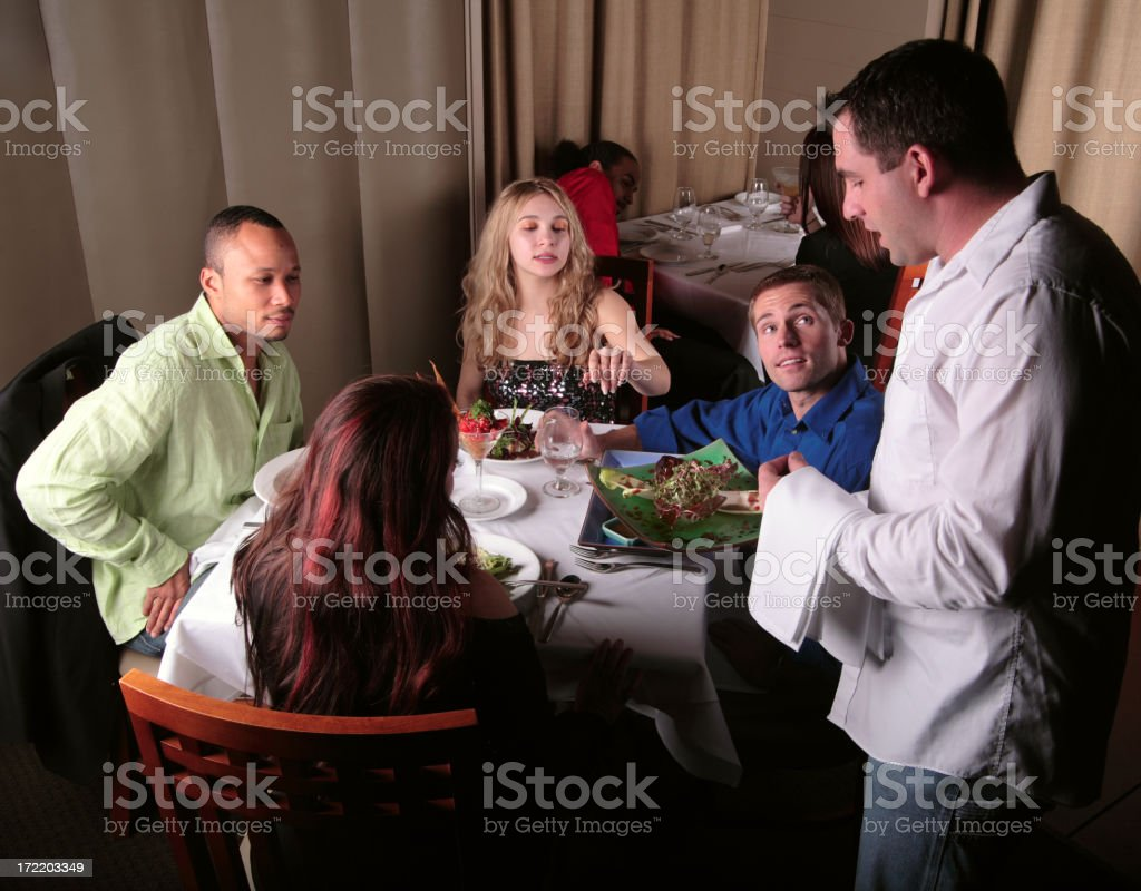 Serving a salad. royalty-free stock photo