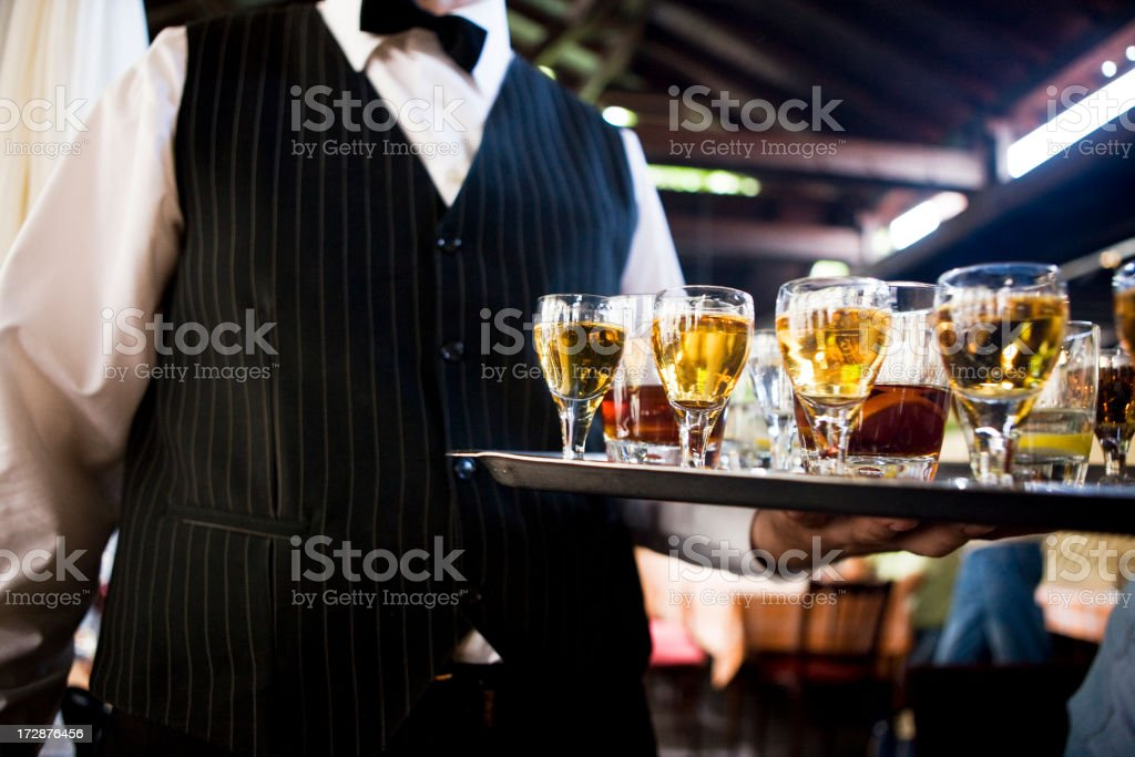 Serving Alcohol royalty-free stock photo