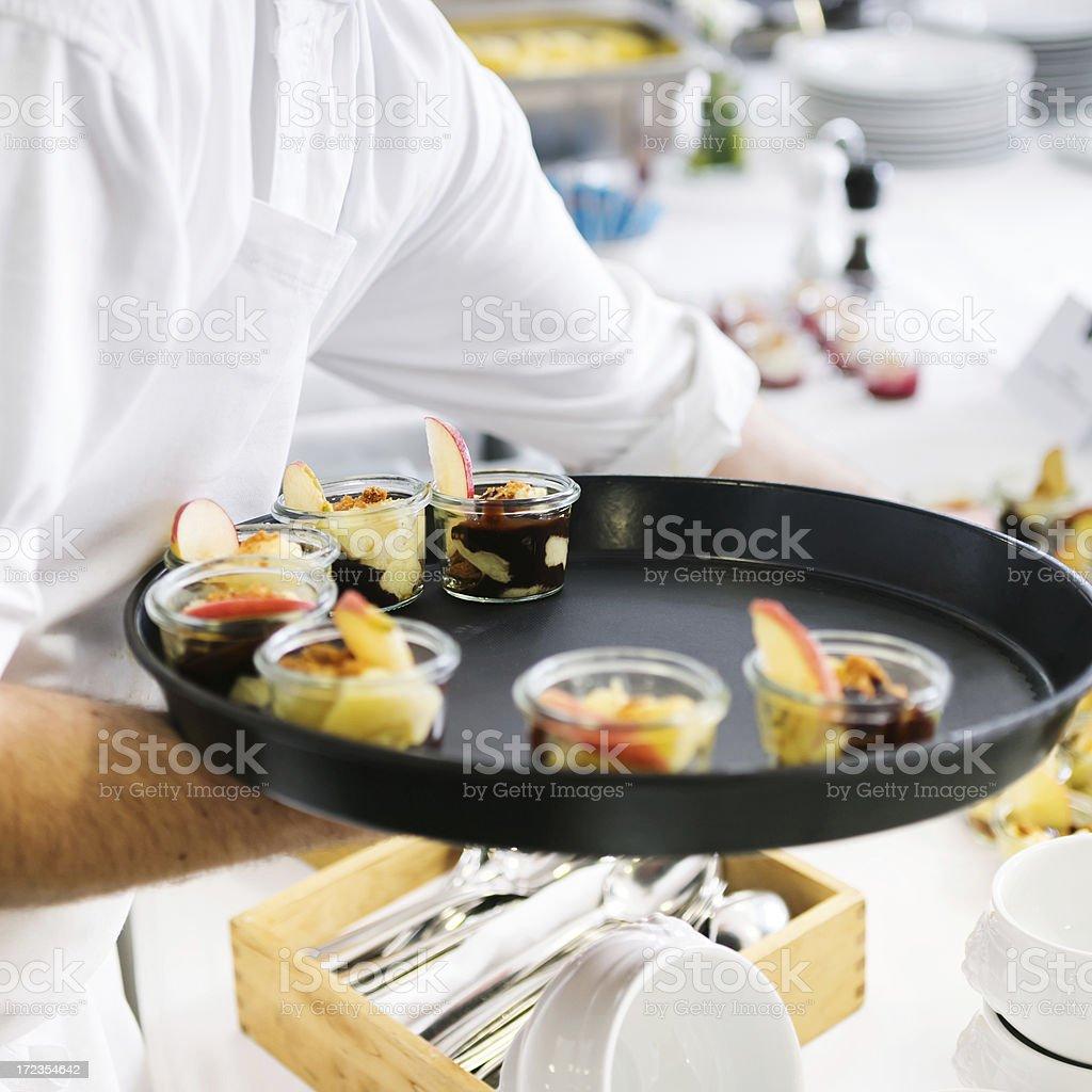 Se sirve bufé foto de stock libre de derechos