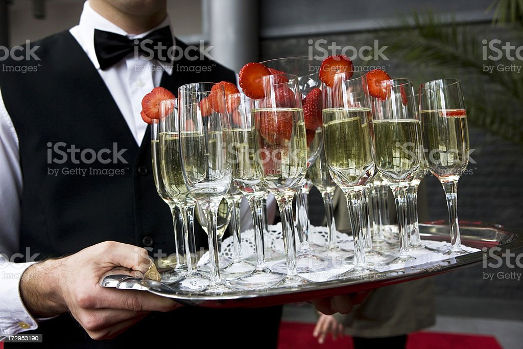 Serving cocktails stock photo