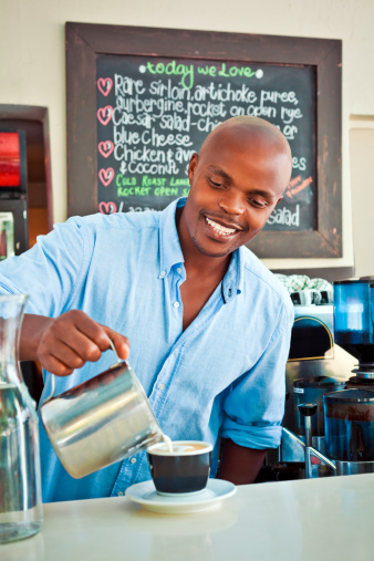 Serving Coffee Stock Photo - Download Image Now