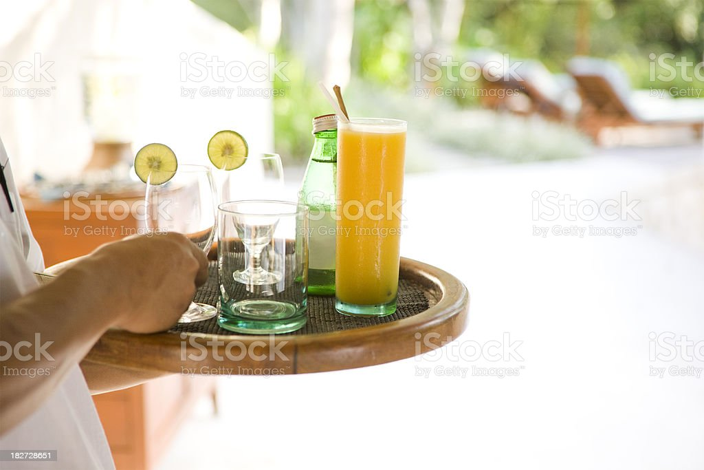 Serving drinks royalty-free stock photo