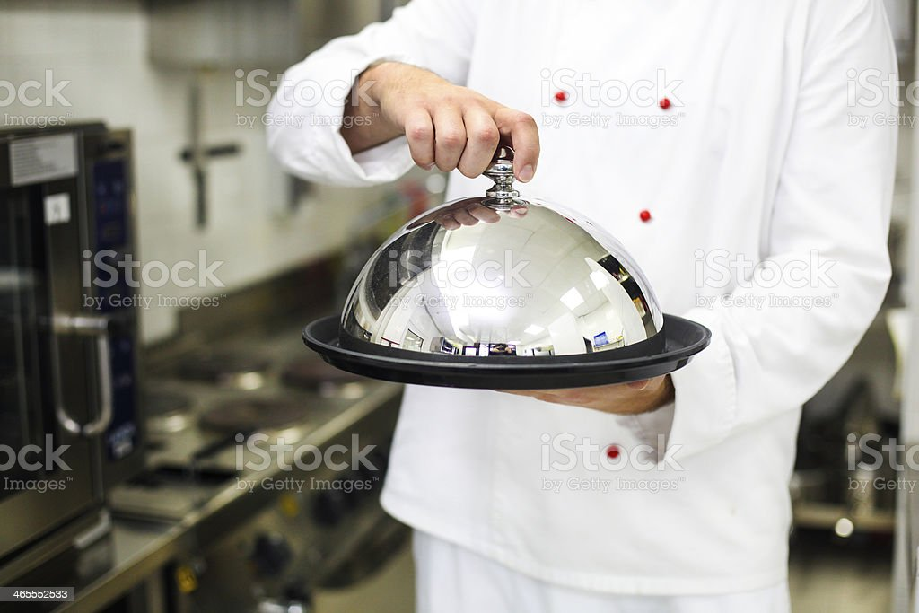 Serving food stock photo