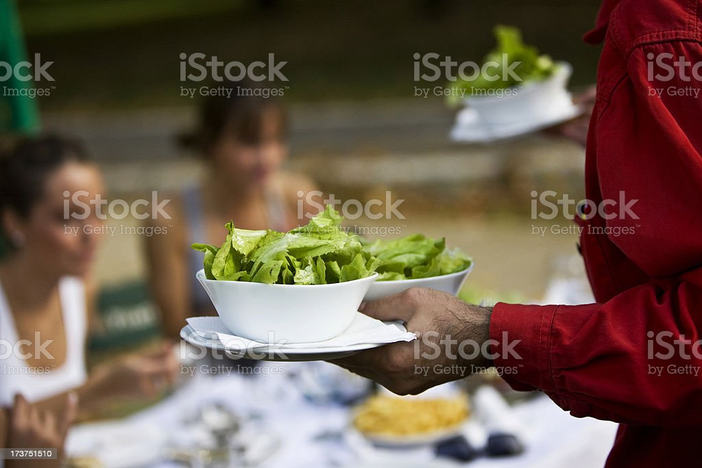 Serving green lettuce royalty-free stock photo