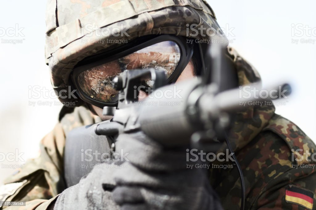 Serving his country royalty-free stock photo