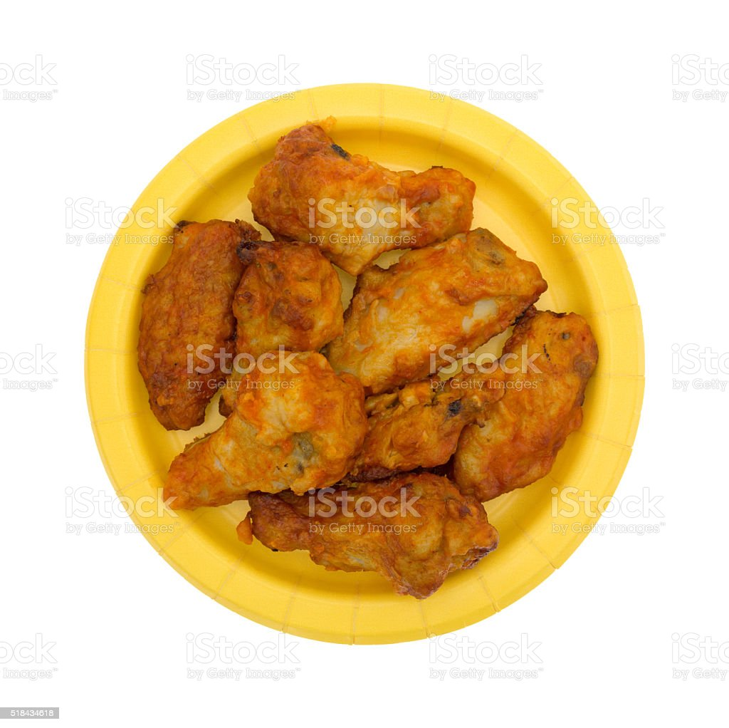 Serving of chicken wings on a yellow paper plate royalty-free stock photo  sc 1 st  iStock & Serving Of Chicken Wings On A Yellow Paper Plate Stock Photo u0026 More ...