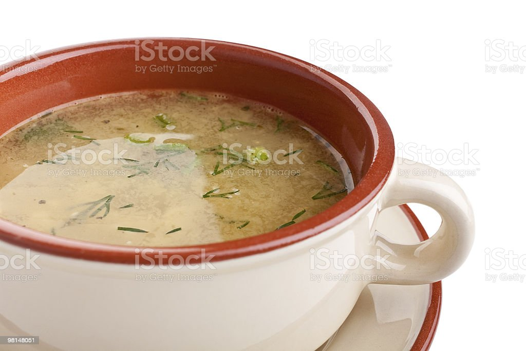 serving of lentil  soup royalty-free stock photo