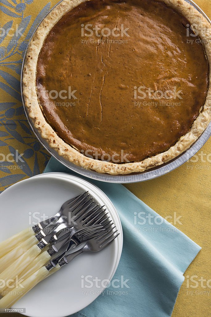 Serving Pumpkin Pie Vt royalty-free stock photo