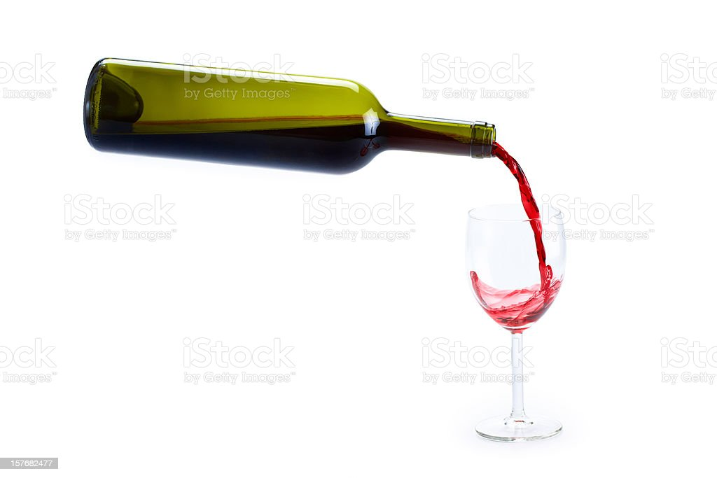 serving red wine royalty-free stock photo