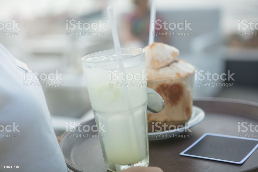 Serving refreshment stock photo