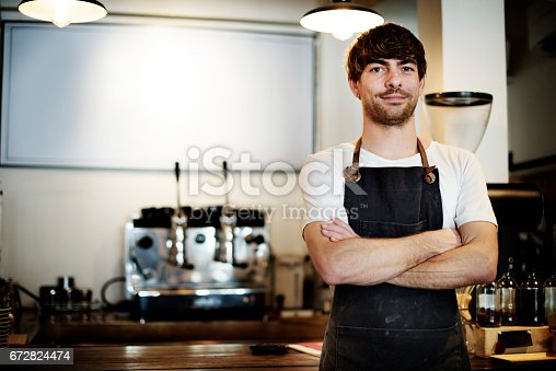 istock Serving Service Staff Customer Service Cafe Concept 672824474