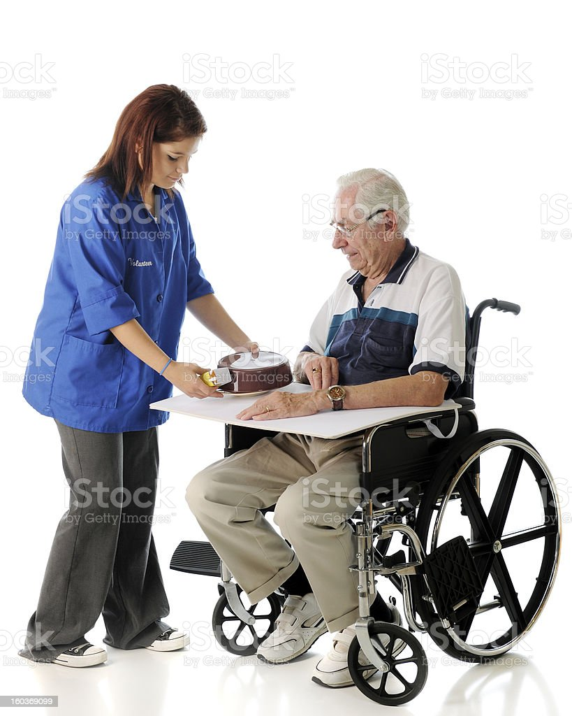 Serving the Elderly royalty-free stock photo