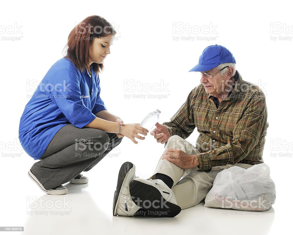 Serving the Homeless stock photo