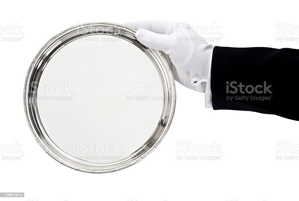 Serving tray royalty-free stock photo