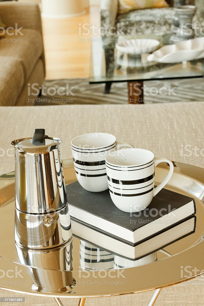 Serving Tray with Tea royalty-free stock photo