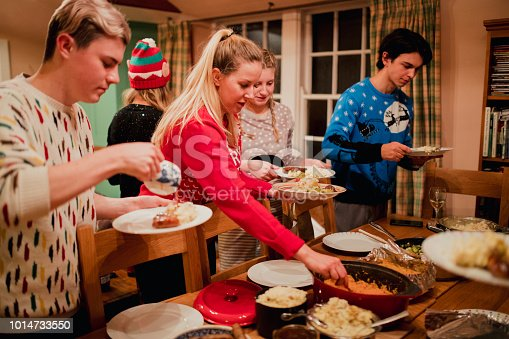 1064325668 istock photo Serving Up Christmas Dinner 1014733550