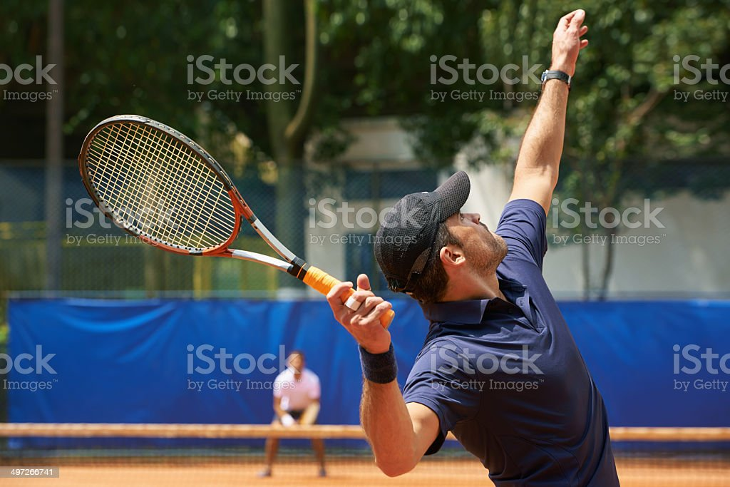 Serving up some power stock photo