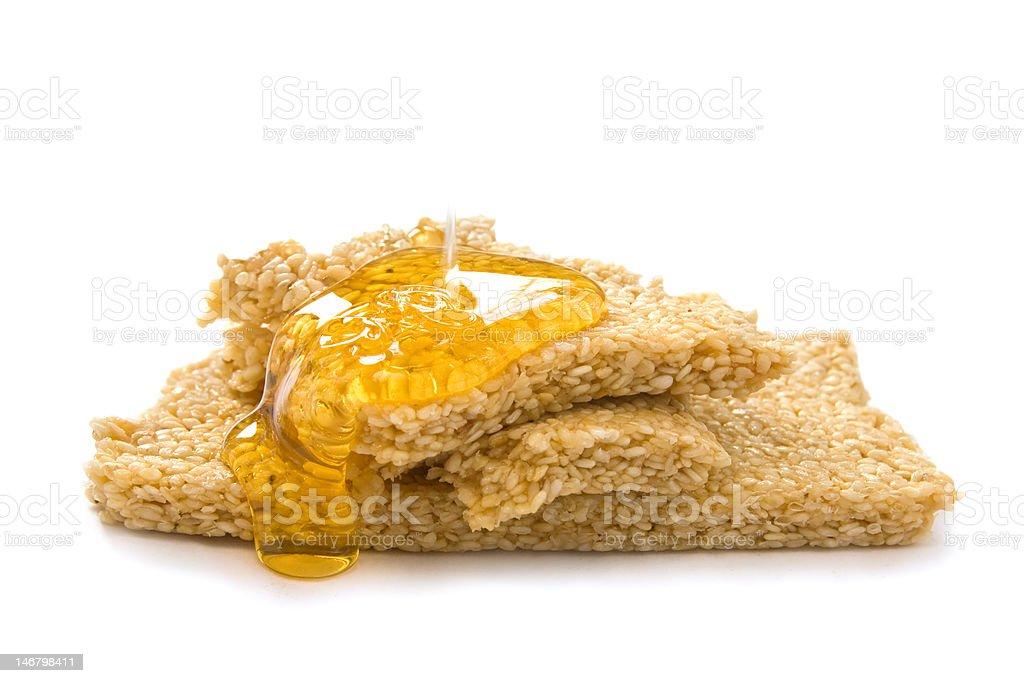 Sesame and honey royalty-free stock photo