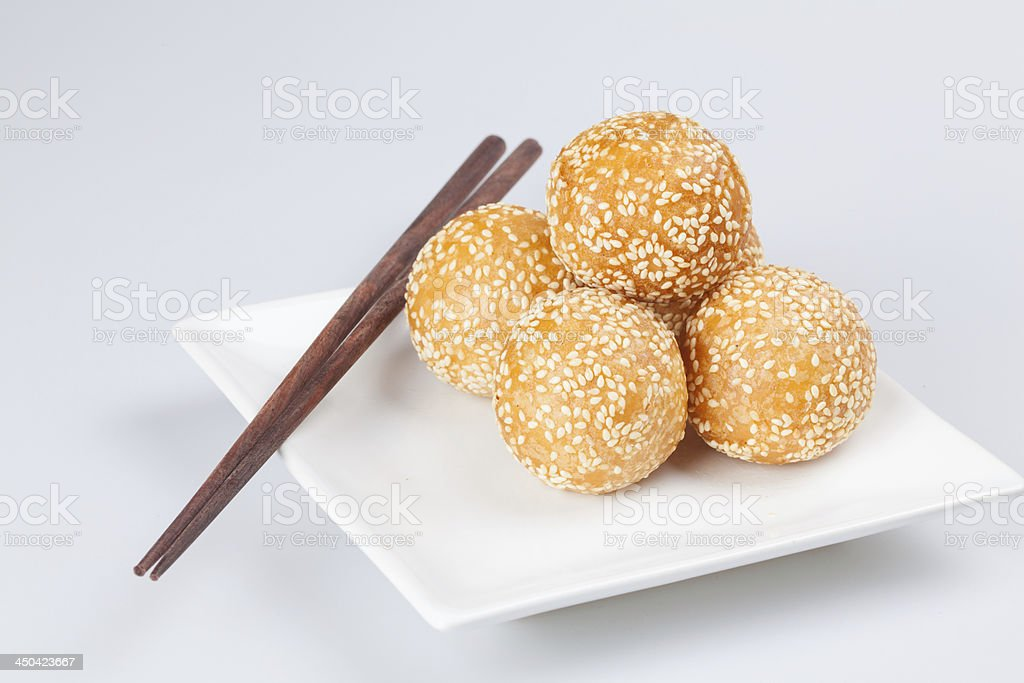 Sesame Balls royalty-free stock photo
