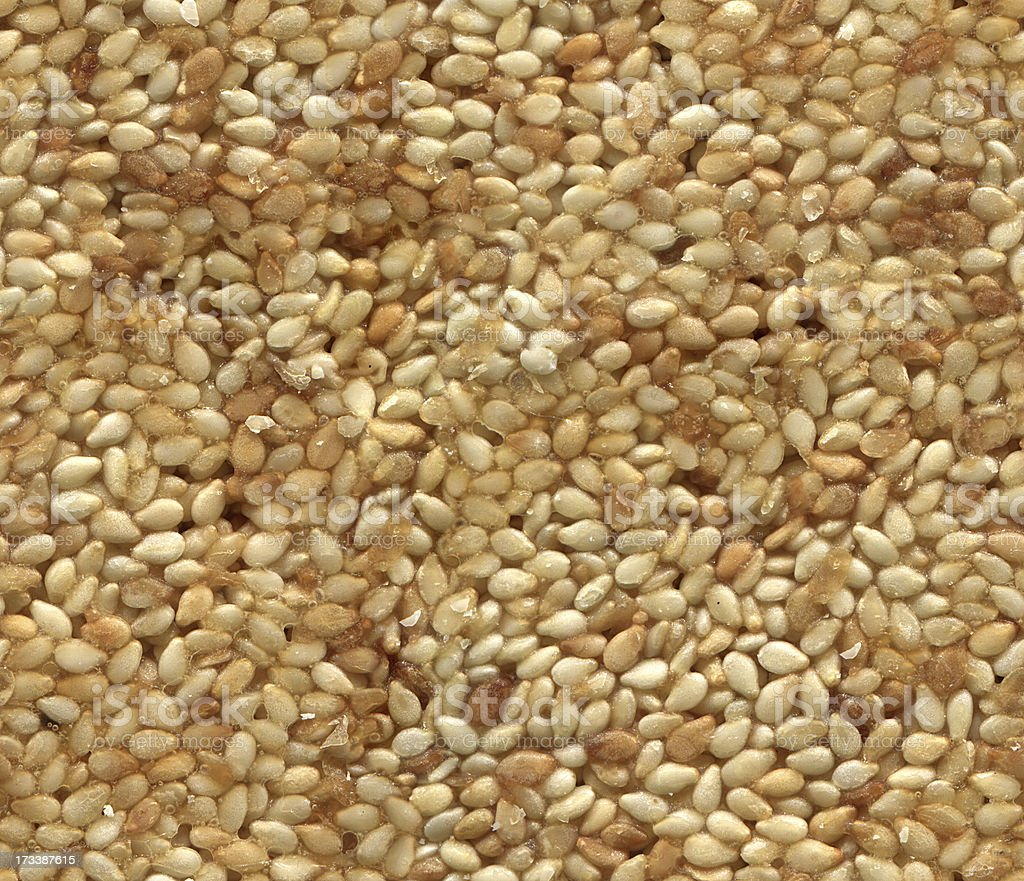 Sesame bar - seamlessly tileable texture pattern royalty-free stock photo