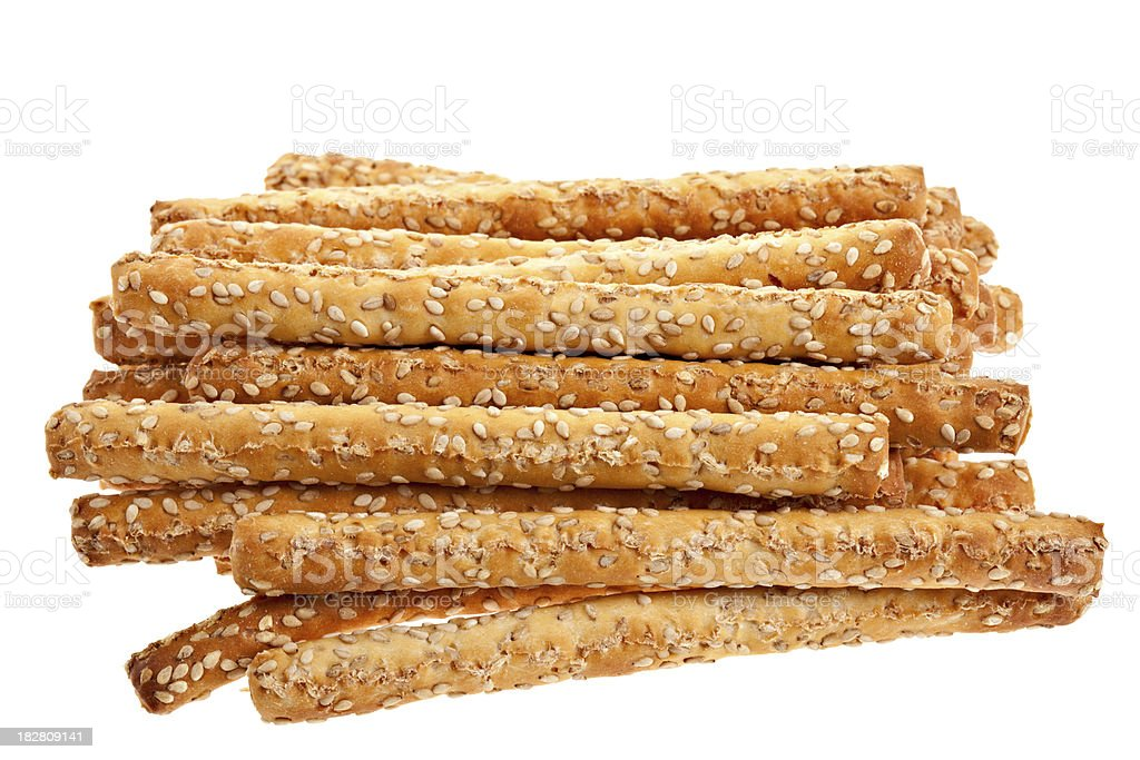 Sesame Bread Sticks stock photo