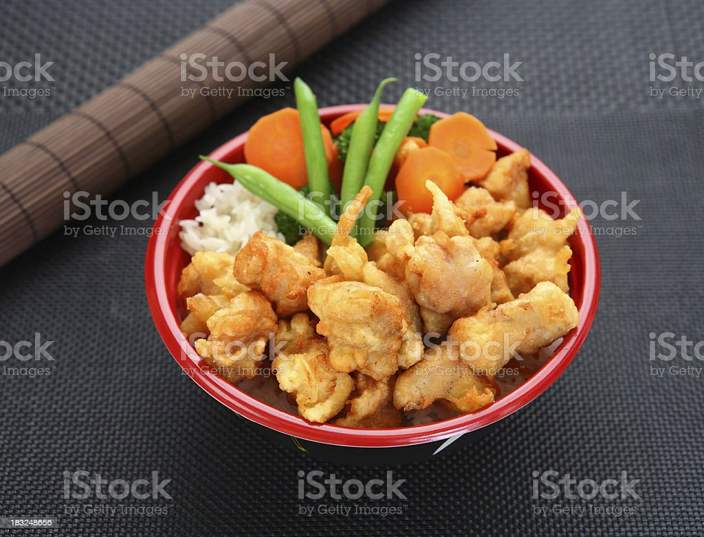 Sesame Chicken Bowl stock photo