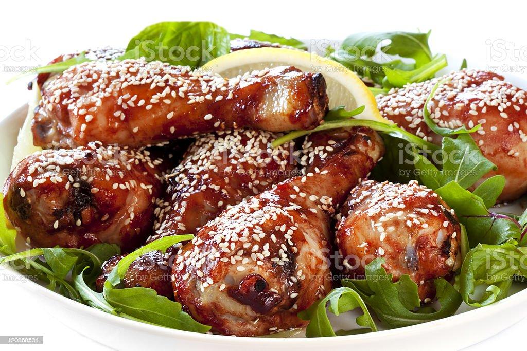 Sesame Chicken Drumsticks royalty-free stock photo