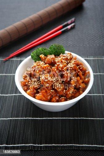 Sesame Chicken Teriyaki Bowl with Steamed Rice
