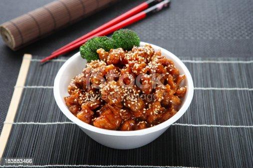 istock Sesame Chicken Teriyaki Bowl 183883466