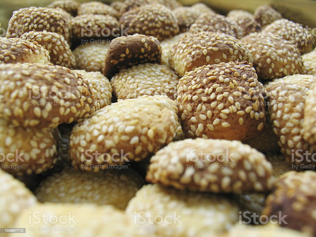 Sesame cookies royalty-free stock photo