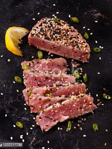 istock Sesame Crusted, Seared Tuna Fillet 1222217735