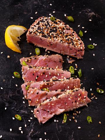 Sesame Crusted, Seared Tuna Fillet