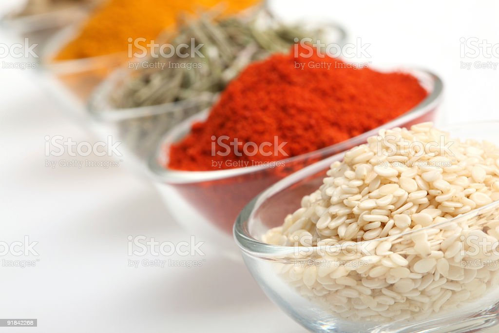 Sesame in a glass bowl royalty-free stock photo