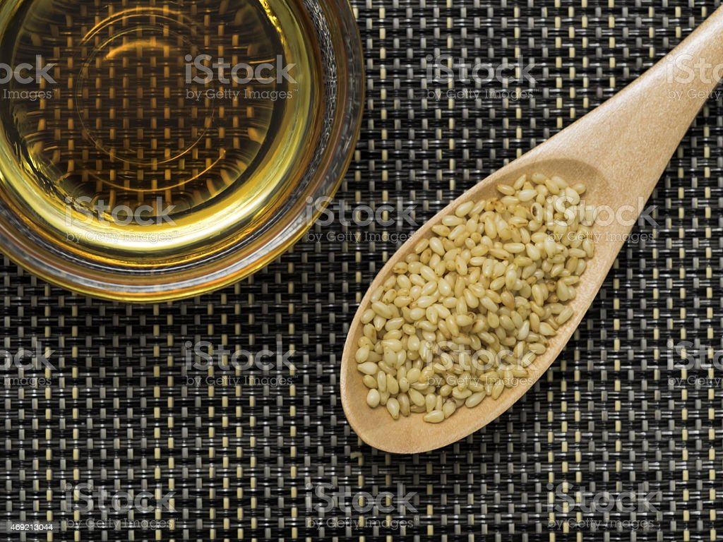sesame oil und Sesam für gesundes Leben – Foto