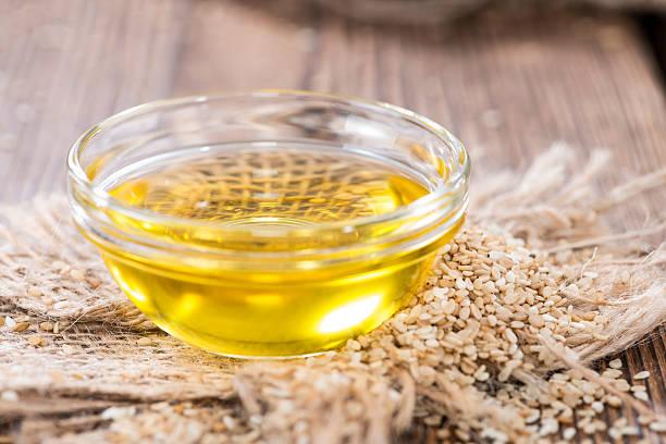 Sesame Oil stock photo