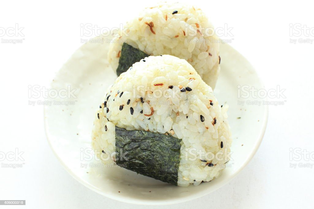 Sesame rice ball stock photo