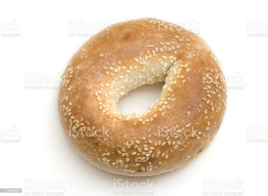 Sesame Seed Bagel royalty-free stock photo