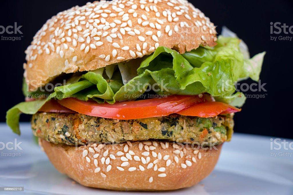 Sesame seed burger stock photo