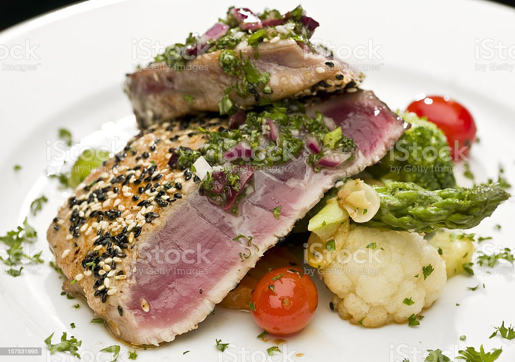 Sesame Seed Crusted Tuna royalty-free stock photo