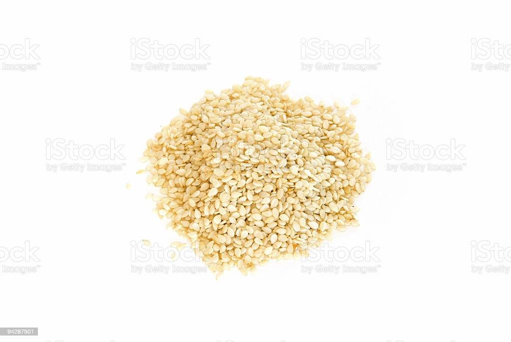 Sesame seeds on white royalty-free stock photo