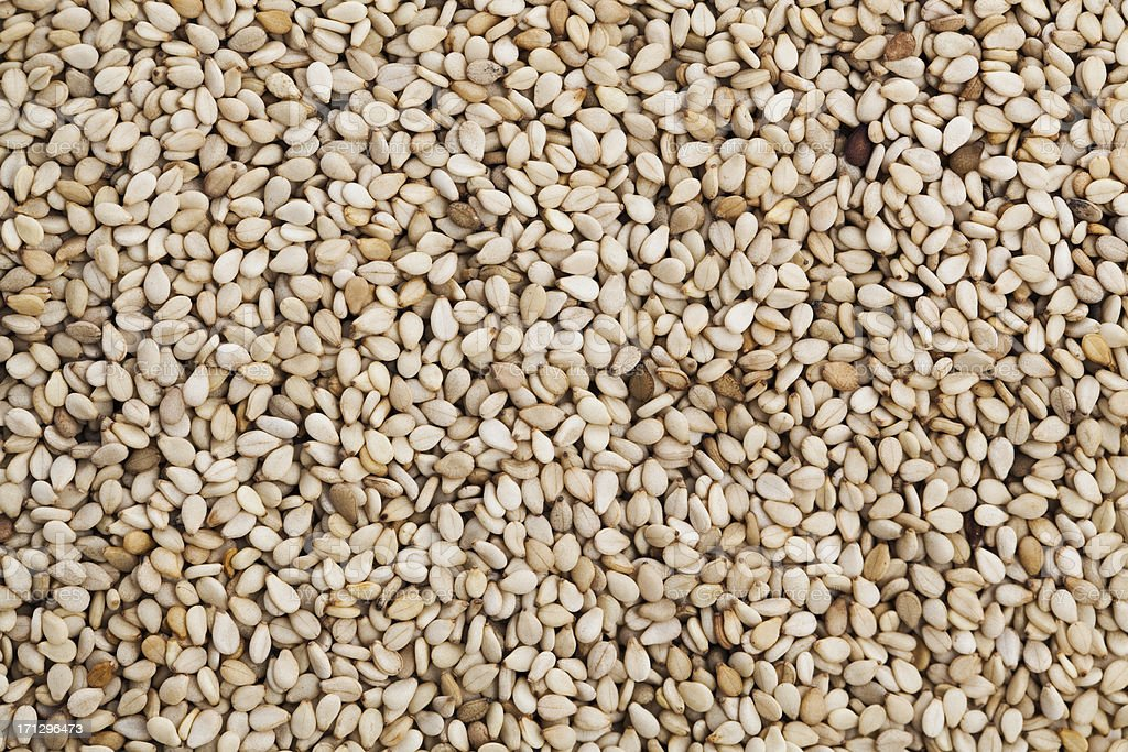 Sesame seeds stock photo