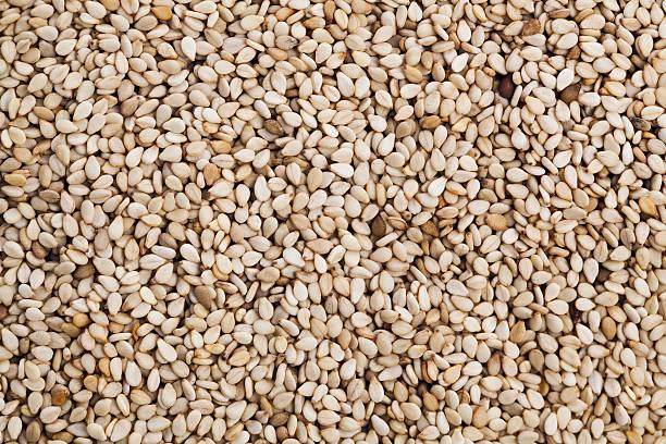 Sesame seeds stock photo