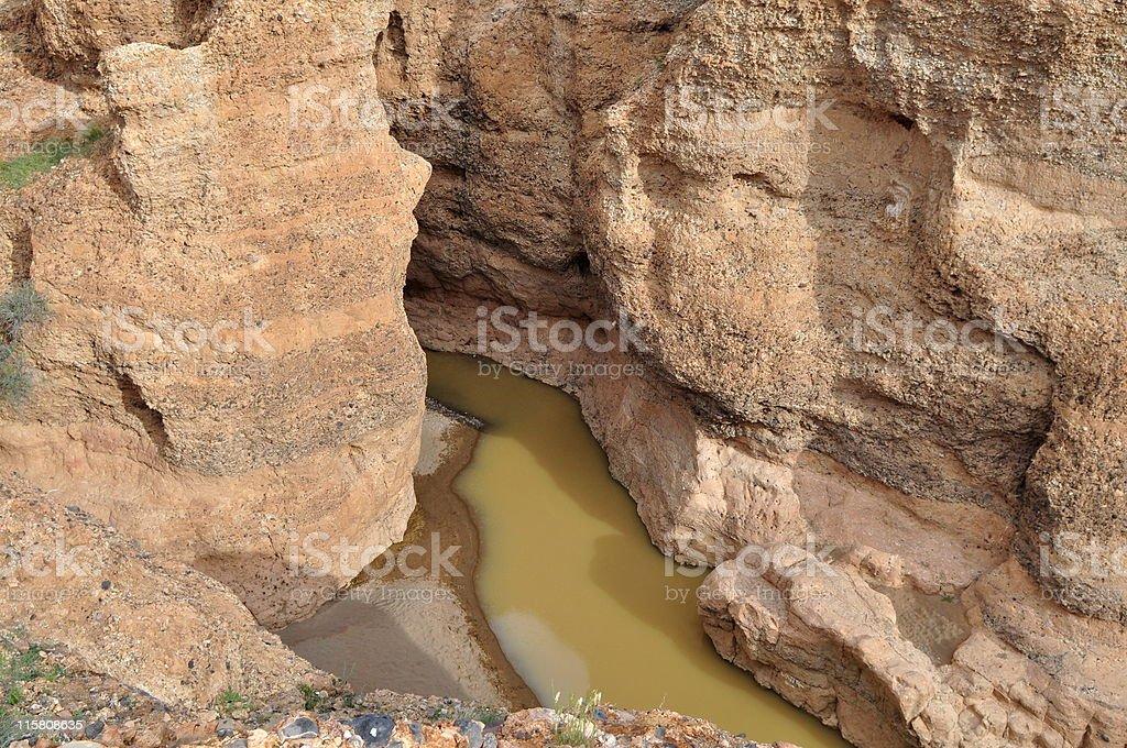 Sesriem canyon,Namibia stock photo