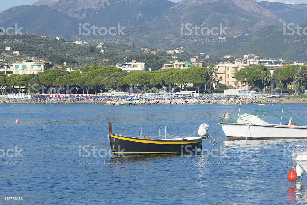 Sestri Levante in Liguria, Italy royalty-free stock photo