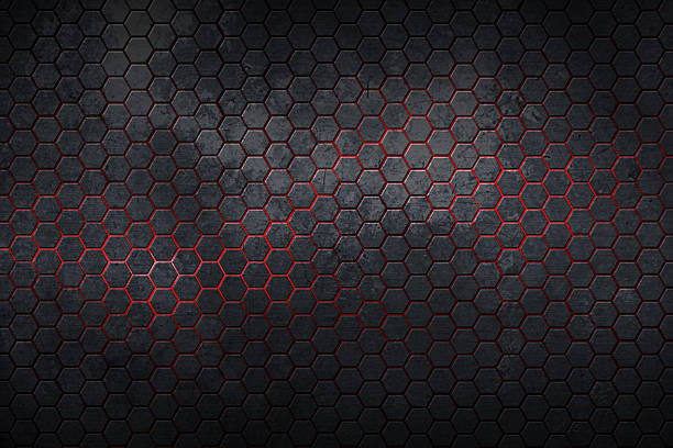 set 9. hexagon background and texture. stock photo