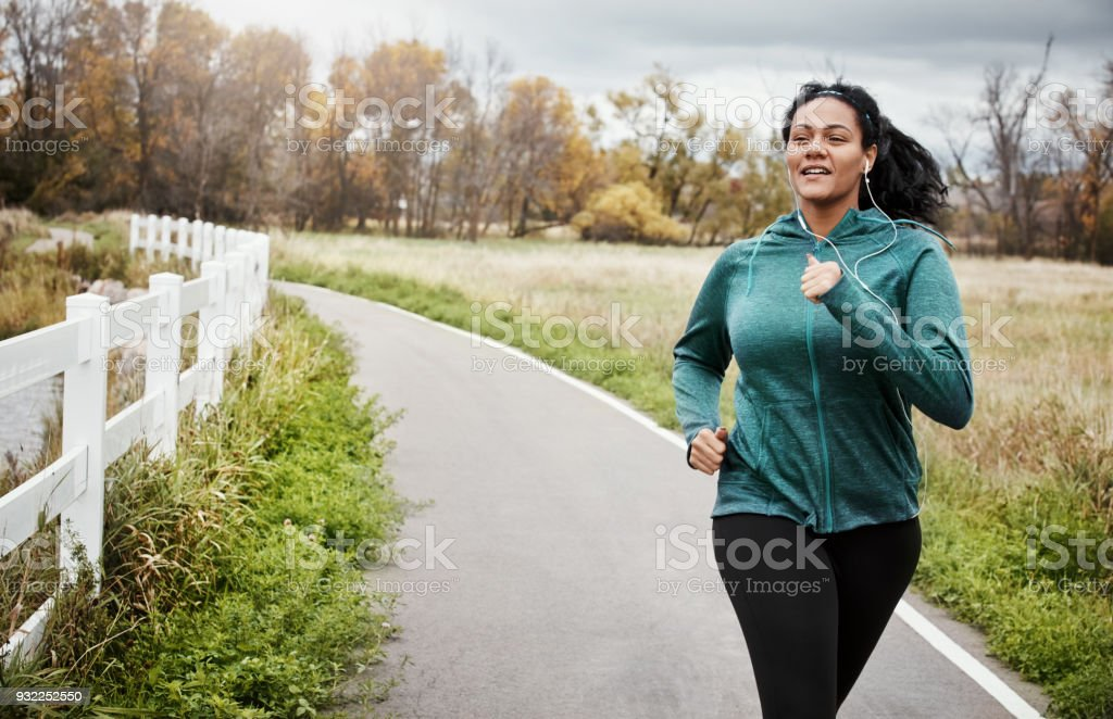 Set a pace and outrun yourself stock photo