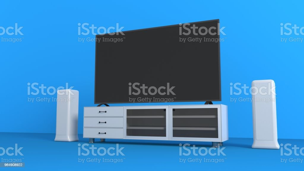 TV set background, 3d rendering royalty-free stock photo