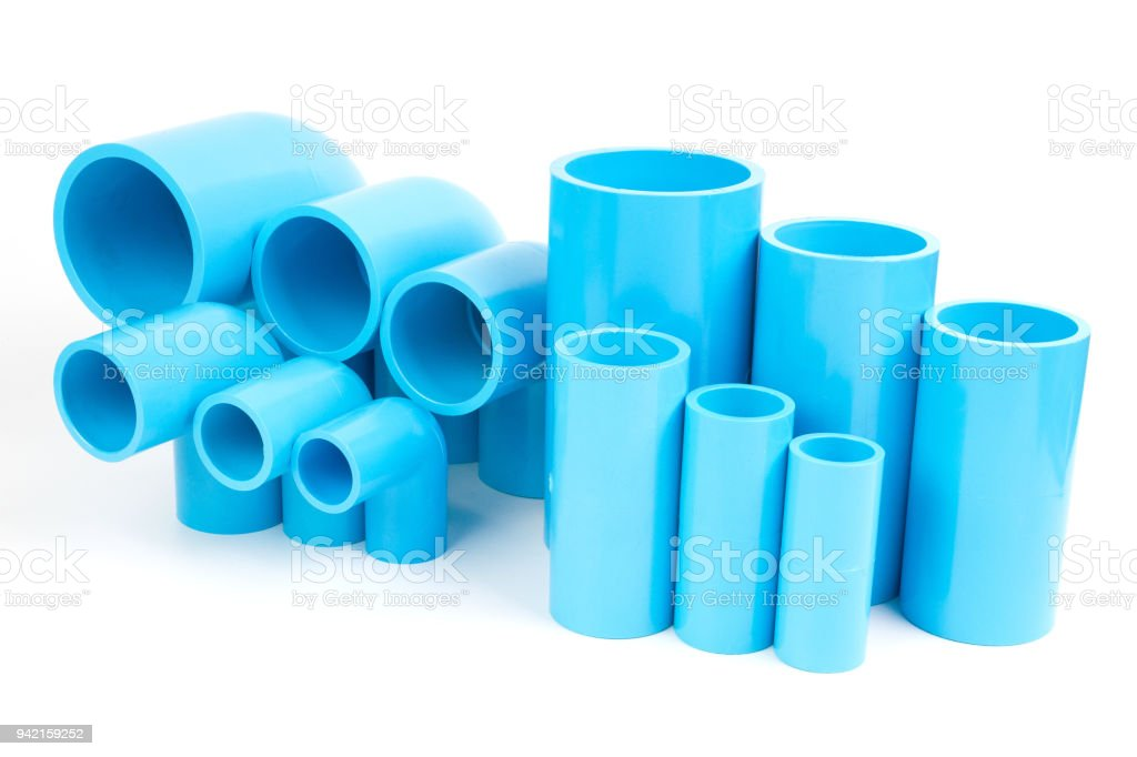 Set Blue PVC Pipe fittings joint and elbow. royalty-free stock photo  sc 1 st  iStock & Set Blue Pvc Pipe Fittings Joint And Elbow Stock Photo u0026 More ...