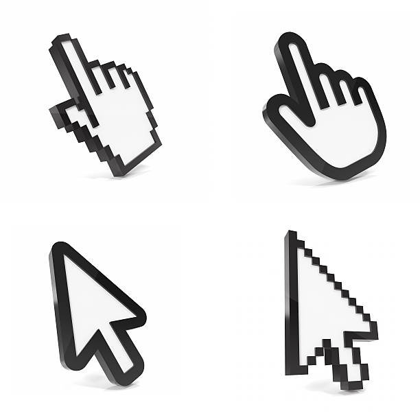 set, collection pointer on white background. - cursor stock pictures, royalty-free photos & images